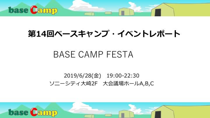 ベースキャンプ・フェスタレポート