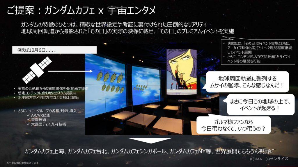 ガンダムカフェ x 宇宙エンタメ